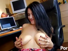 Lisa Spice fucks a Spanish guy with her huge natural tits
