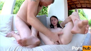 Cock body his barely her can copper's handle up pauline ass big petite tits deepthroat