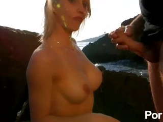 Beachside anal fuck for busty Tanya Love