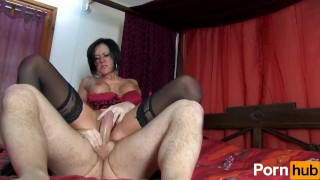 French MILF begs for butt sex