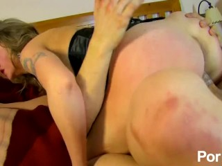 Big-titted French slut pounded in pussy and ass
