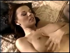 Sexy milf fucking in sheer black stockings and a garter belt