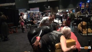 PornhubTV Intern Amber Gets Flogged at eXXXotica 2013