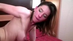 Anal french with horny babe taking cumshot on tits