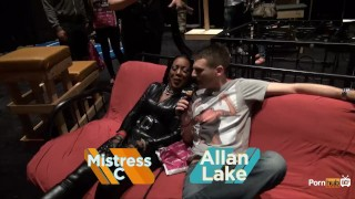 Preview 2 of PornhubTV Allan Gets Flogged at eXXXotica 2013