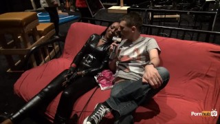 Preview 4 of PornhubTV Allan Gets Flogged at eXXXotica 2013