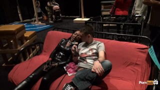 Preview 5 of PornhubTV Allan Gets Flogged at eXXXotica 2013