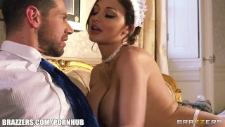 French maid Aletta Ocean plays sex doll for her boss Cowgirl core