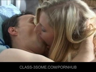 Preview 6 of Three hot blondes in bed with one lucky guy