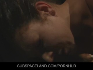 Curly-haired Stephanie spanked and anal fucked