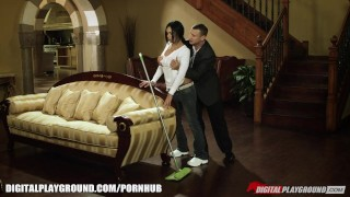 Preview 1 of FIT Latina maid gets stripped searched and fucked on the job