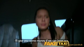 FakeTaxi Hot 19 year old in taxi cab scam British twerk