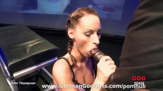 German brunette babe Mary is without a doubt a COCK MAGNET