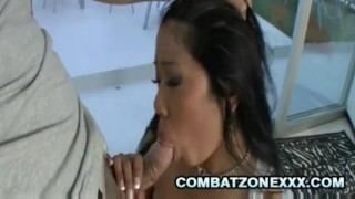 Bustillicious Asian Kya Tropic Tit Fucking A Throbbing Cock  doggy style big ass fellatio oral-sex big-tits tit-fuck asian oriental blowjob cumshot chubby missionary exotic busty interracial face-fuck rough-sex facial