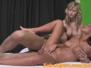 Shaving Porn Tubes FakeAgent HD Two girls make me cum quick