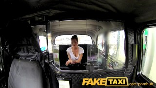 Preview 3 of FakeTaxi Busty brunette in anal creampie