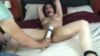 Bondage Bitch Spread and Cumming