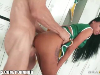 Cheating blonde wife and a slutty cheerleader both get their fix