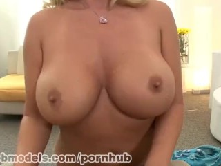 Big Boobs Blonde Cougar Gives a great blowjob