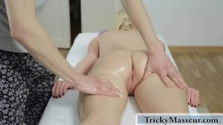 He starts seducing her by touching her butt