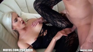 A rides euro in blonde chick lingerie a cock hot bodysuit thick shaved dance