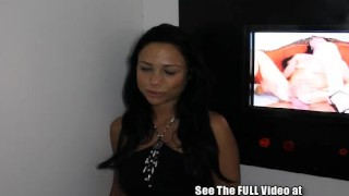 Big titty Spanish hottie Veronica in the gloryhole  latin blow job homemade