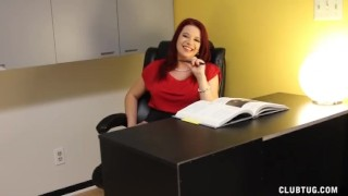 Preview 4 of Naughty Boss Jerks Off Her Employee