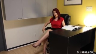 Preview 6 of Naughty Boss Jerks Off Her Employee