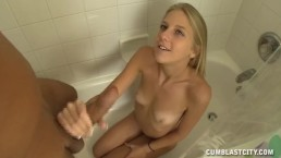 Sexy Teen Jacks A Dick In The Bathtub