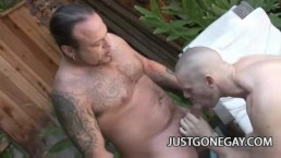 Park Wiley - An Outdoor Gay Fucking With His Pool Guy