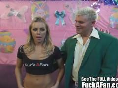 Sexy Blonde Nicole Anniston fucks her fan Rusty