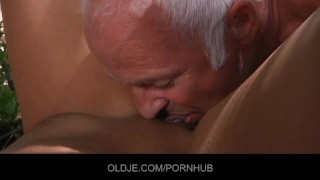 Angel Rivas is sucking 2 old cock
