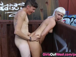 Wife Gangbang Facial Girls Out West - Hairy Blonde Fucked On The Train, Amateur Hardcore