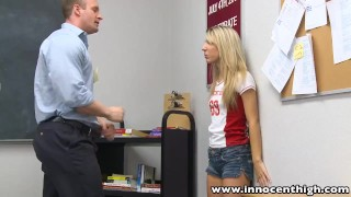 Preview 4 of InnocentHigh Teacher fucks smalltits blonde teen