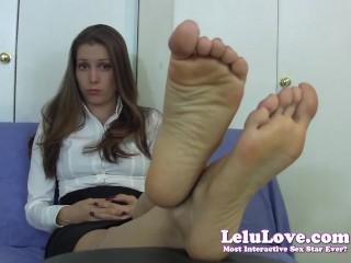 Lelu Love Embarrassed Secretary Foot Fetish