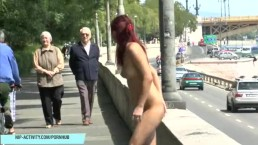 Crazy Tereza Shows Her Sexy Body In Public