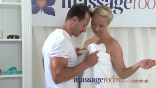 Massage Rooms Horny petit babe gets pounded by guy with big hard cock