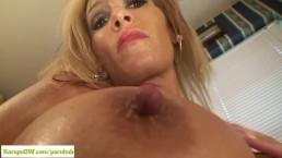 Busty Cougar Brea Kitchen Masturbation