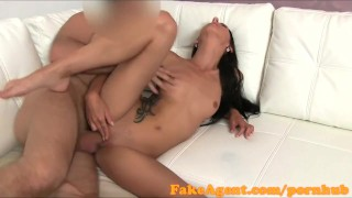 FakeAgent Young stripper takes creampie in casting