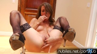 Malena Morgans pussy pulses with orgasm