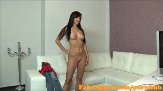 Preview 4 of FakeAgent Cute brunette gets creampie in casting