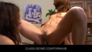 Hot babes warming up one chilly cock