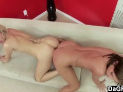 2 Girls And 1 Double Headed Dildo