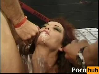 Hot Sexy Raunchy Crazy Dumb American Bukkake 9 - Scene 1 Big Tits Bukkake Pornstar Red Head