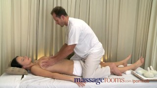 Preview 3 of Massage Rooms Big natural tits oiled up before girls get deep hard pumping