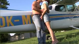 Fucking the pilot outdoors