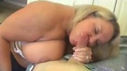 Blonde Milf With Huge Boobs Jerking