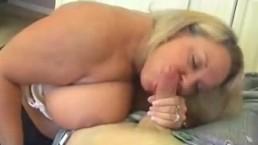 Blonde Milf With Huge Boobs Jerking