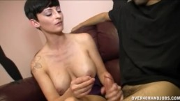 Sexy Milf Gives Some Cock Strokes