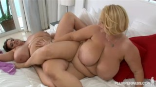 Busty BBW Pornstars Samantha 38G and Maria Moore in hot Lesbian Sex  big tits boobs chunky bbw chubby fat busty plumperpass lesbian brunette lesbian milf natural tits sensationalvideo